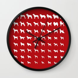 All Dogs (Red) Wall Clock
