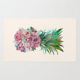 Floral Pineapple Rug