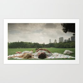 ♘ day date in central park ♘ Art Print