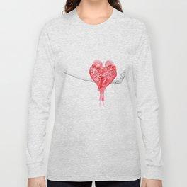 Red Heart Birds Love Long Sleeve T-shirt