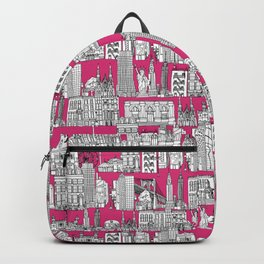 New York pink Backpack