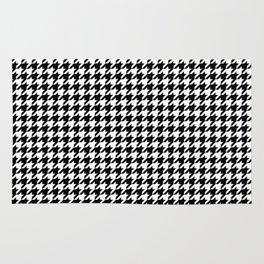 Monochrome Black & White Houndstooth Rug
