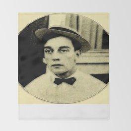 Buster Keaton Throw Blanket