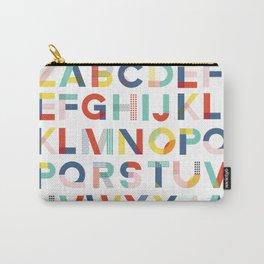 Modern Alphabet Print Carry-All Pouch