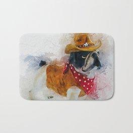 Cowboy Bulldog Bath Mat