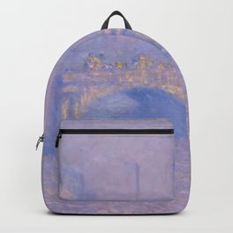 """Claude Monet """"Waterloo Bridge, Effect of Sun"""" Backpack"""