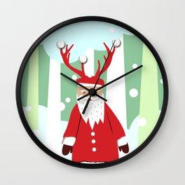 Undercover Santa Wall Clock