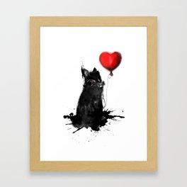 NASTY BUNNY Framed Art Print