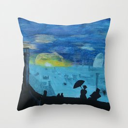 london view Throw Pillow