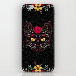 Day of the Dead Kitty Cat Sugar Skull iPhone Skin