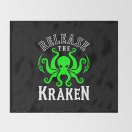 Release The Kraken Throw Blanket