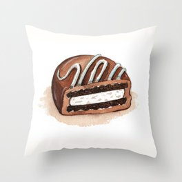 Chocolate Covered Cookie Throw Pillow