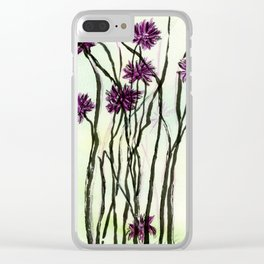 Invasive Knapweed Clear iPhone Case