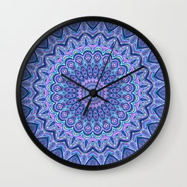 Purple Passion - Mandala Art Wall Clock