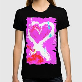 Pink Graffiti Ribbon for Breast Cancer Research by Jeffrey G. Rosenberg T-shirt