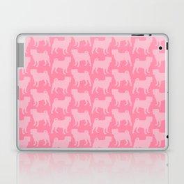 Pastel Pink Pugs Pattern Laptop & iPad Skin