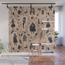 Creatures of the Night (orange) Wall Mural