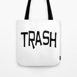 Trash print black Tote Bag