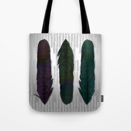 Feathers on silver Tote Bag