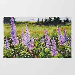 Lupines of Nova Scotia Rug