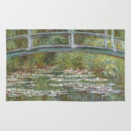 Water Lily Pond (Japanese Bridge) Rug