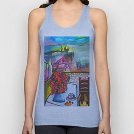 Room With A View  #society6 #decor #buyart Unisex Tank Top