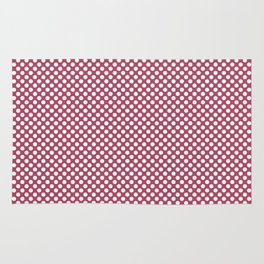 Hippie Pink and White Polka Dots Rug