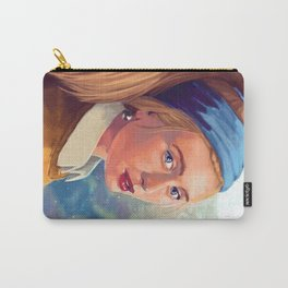 Girl with Pearl - Modern - Gaze Carry-All Pouch