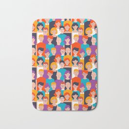 Colorful people pattern Bath Mat