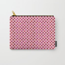 Magenta Watercolour Dot Carry-All Pouch