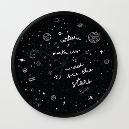 A certain darkness Wall Clock