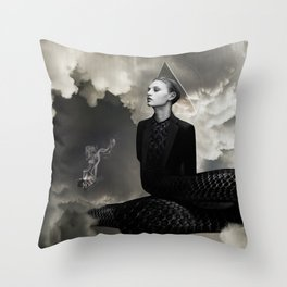 SMOKE AND MIRRORS Throw Pillow