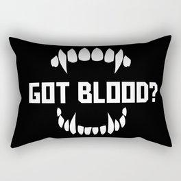 Got blood? Rectangular Pillow