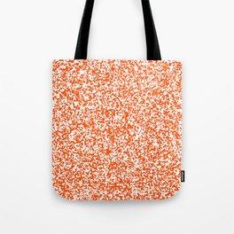 Tiny Spots - White and Dark Orange Tote Bag
