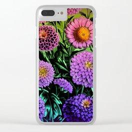 Mum Bouquet Clear iPhone Case