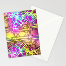 Neon Deco Stationery Cards