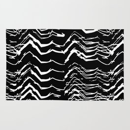 Dark Glitch Abstract Pattern Rug