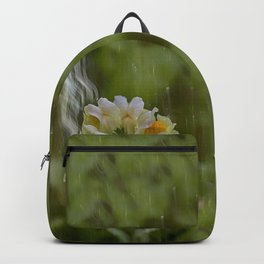 Yellow common Toadflax flower Backpack