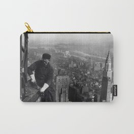 Construction worker Empire State Building NYC Carry-All Pouch