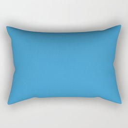 Cheap Solid Light Blue Ivy Color Rectangular Pillow