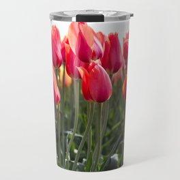 Long Red Tulips Travel Mug