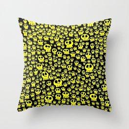 Calaveras Fluor Throw Pillow