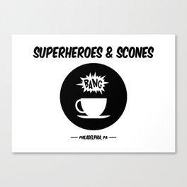 Superheroes and Scones Canvas Print