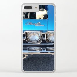 Blue Chevelle Clear iPhone Case