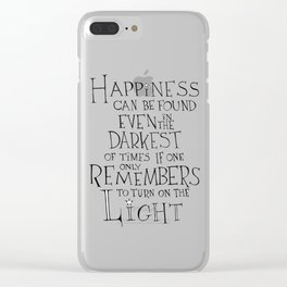 Happiness can be found Clear iPhone Case