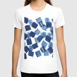 Indigo Brush Strokes | No.1 T-shirt