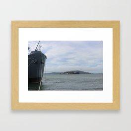 SS Jeremiah O'Brien and Alcatraz Framed Art Print