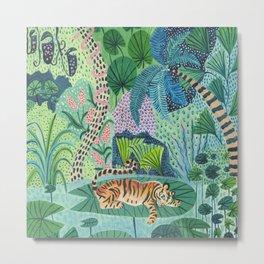 Jungle Tiger Metal Print