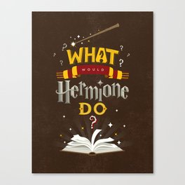 What Would Hermione Do? Canvas Print