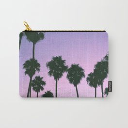 Palm Tree Purple Sunset Carry-All Pouch
